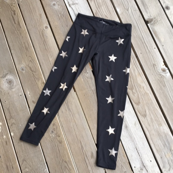 9e1a0ebea6b4a Jessica Simpson Pants | Workout Leggings Black Stars Large | Poshmark